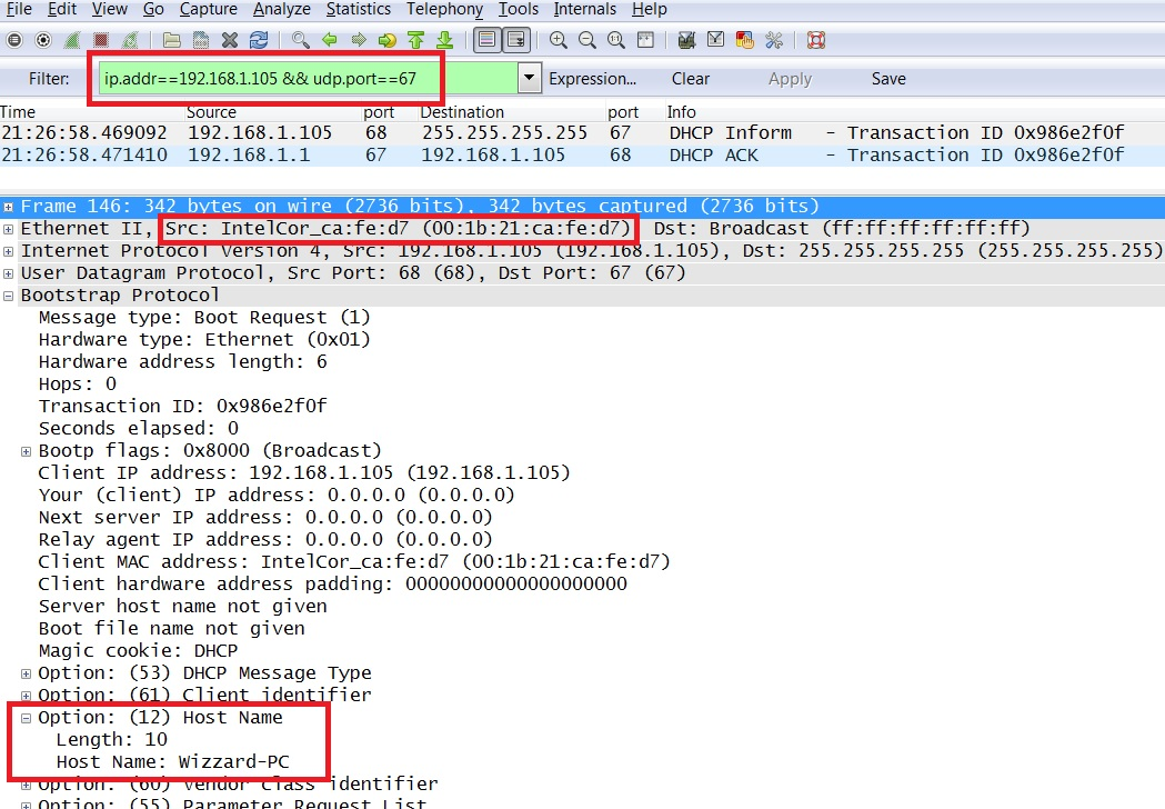 how to detect ip address on network