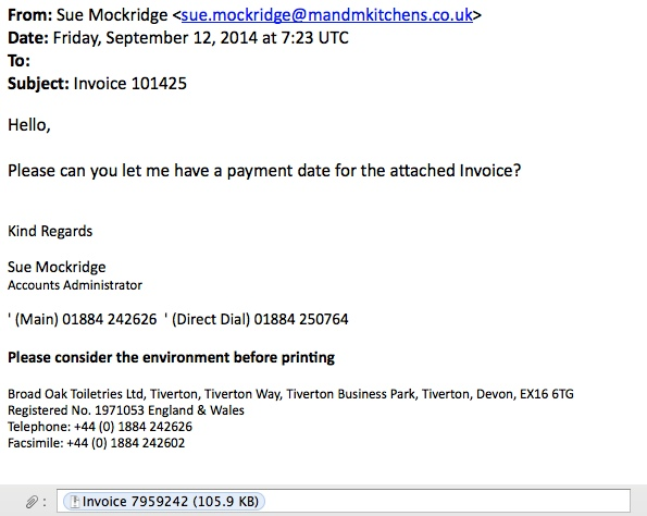 MalwareTrafficAnalysisnet Phishing Campaign - How to write an email with invoice attached