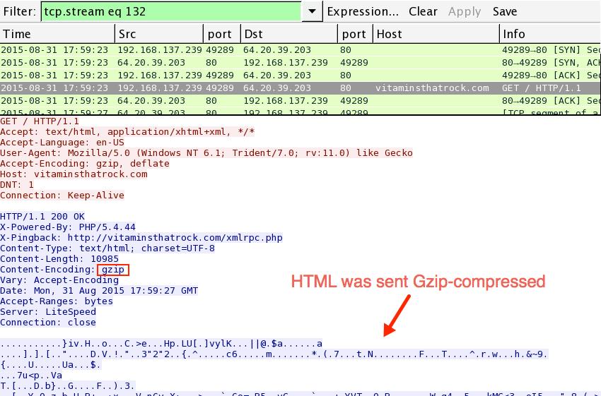 Malware-Traffic-Analysis net - 2015-08-31 - Traffic analysis