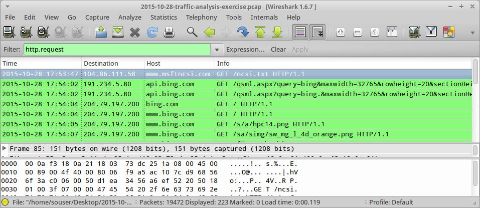 Malware-Traffic-Analysis net - 2015-10-28 - traffic analysis