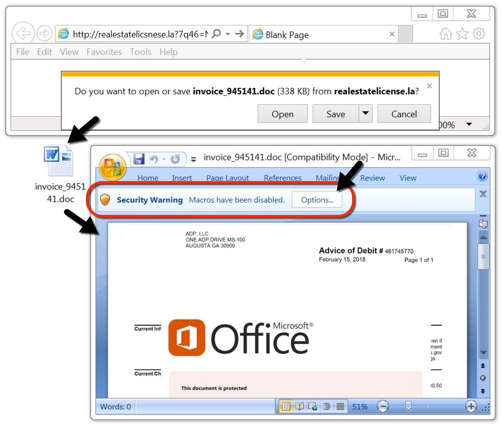 MalwareTrafficAnalysisnet Hancitor Malspam Fake - Adp open invoice